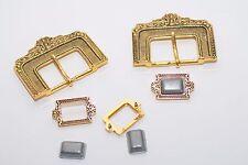 Gürtelschnalle mit Spitze, ca. 40 mm Breite, Gold, Mittelalter, Orient