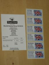 2016 Post & Go WORLD STAMP SHOW NY2016 Union Flag Collector Bande & Receipt