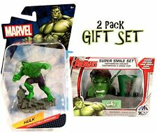 Marvel HULK Super Smile Set & Collectible Diorama Action-Figure (2 Packs) NEW