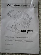 Dirt Devil ,Centrino Cleancontrol(M2881(-8/-9) ,Bedienungsanleitung ,Gebrauchsan