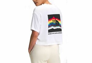 """The North Face Women's Pride Graphic Cropped T-Shirt MD=35.5"""" Bust(at fullest)"""