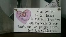 Wooden Mum Decorative Indoor Signs/Plaques