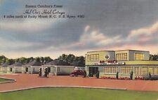 Rocky Mount NC~Hal Orr's Hotel Cottages~ART DECO Coffee Shop~1950 Linen Postcard