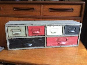Painted Metal Drawers, Shabby Chic, Rustic, Wall Mounted