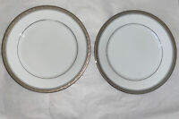 noritake contemporary Majestic Platinum Dinner Plates 10.5 Inches *4291* Pair
