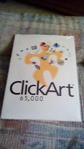 Brøderbund ClickArt 65,000 5 CD's - Click Art Window 95- Vintage