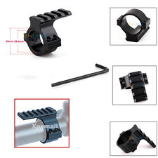 """Scope Barrel Mount 30mm&1""""/25MM Ring Adapter w/ 20mm Picatinny Rail  For Rifle"""