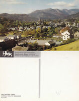 1970's GENERAL VIEW OF AMBLESIDE LAKE DISTRICT CUMBRIA UNUSED COLOUR POSTCARD