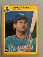 1985 Fleer Team Set of the Kansas City Royals -  George Brett & Brett Saberhagen