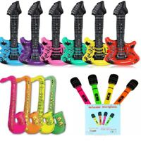 Inflatable Saxophone 75cm Blow Up Jazz Party Sax Fancy Dress Accessory Prop Toy