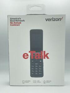 New Sealed Verizon Wireless Prepaid 4G LTE eTalk Flip Phone Gray