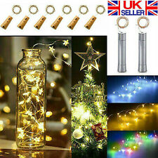 Wine Bottle Fairy String Lights 10/15/20LED Battery Cork For Party Xmas Wedding