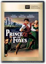 Prince of Foxes DVD New Tyrone Power Orson Welles Wanda Hendrix