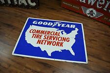 Tin Goodyear Tires Sign Tire Advertising Service Garage repair Network Gas Oil