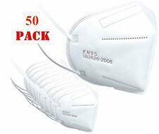 Protective KN95 Face Mask Certified Respirator, Disposable Face Mask - 50 Pack