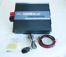 1000W 12V Pure Sine Wave Power Inverter with Remote Control & 5V USB Socket