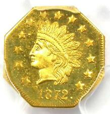 1872 Indian California Gold Dollar Coin G$1 BG-1120 - PCGS MS65 - $6,000 Value!