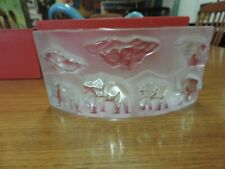 Baccarat Satin & Clear Crystal African Elephant Bowl In Box