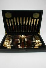 Viners 44 Piece Canteen Bronze Collection Balmoral Thailand, Forks Spoons Knives