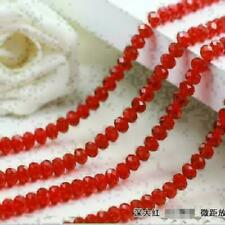 trendy New 8mm 33pcs Faceted Rondelle Bicone Crystal Jewelry Beads red