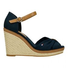 35894e7515ee40 Tommy Hilfiger Iconic Elena Womens Midnight Navy Wedge Sandals - 39 EU