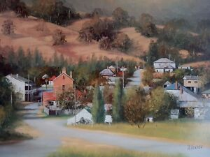 John Vander, View of Sofala, Large Australian Country Landscape..