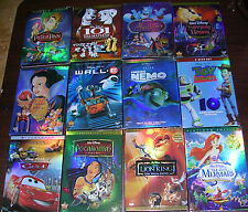 Disney DVD Lot 12 Movies: Lion King, Beauty and the Beast, Aladdin, Snow White