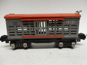PREWAR LIONEL LINES NO.2656 STOCK CAR, C-7 EXCELLENT