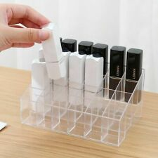 24 Clear Lipstick Display Holder Acrylic Cosmetic Organizer Makeup Storage Case