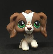 #156 Littlest Pet Shop LPS Brown Cocker Spaniel Dog Green Eyes LPS Animal Toy
