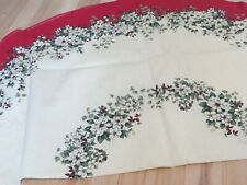 "Christmas tablecloth, 69"" round cotton blend GRANDIER Beautiful!"