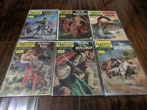 CLASSICS ILLUSTRATED Vintage Comic Books Lot Of 6 by the Worlds Greatest Authors