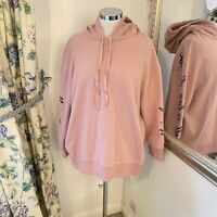 Stella McCartney 40 10 12 14 pink embroidered romance all is love hoodie jumper
