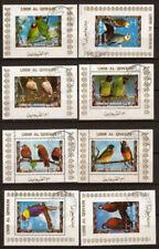 Timbres avec 8 timbres sur oiseaux