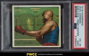 1910 T218 Champions Prize Fighter Jack Johnson SIDE FACE PSA 4(mc) VGEX