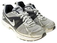 NIKE DART 9 Boys Silver Black Athletic Shoes Sneakers Youth Size 5
