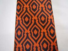 "Piera & Bruna  ""V. Guicciardini 6R Firenze"" Men's tie-- Orange & Black Vintage"