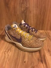 """Nike Zoom Kobe VI 6 """"Lakers 3D"""" sz. 10.5US LA Bryant Rare X XI 429659-105 Sz 10"""