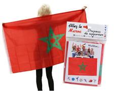 Drapeaux du Maroc 90X150 - Drapeau Supporter Marocain Festival Body Flag