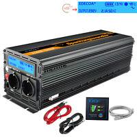 2500W 5000 watt 12V 220V 230V AC Onda Sinusoidale Pura Inverter LCD Convertitore