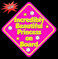 Incredibly Beautiful Princess Baby on Board Car Sign Non Personalised HP Y