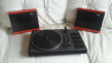 vintage RECORD PLAYER TURNTABLE Suitcase philips 300 radiola PORTABLE DESIGN