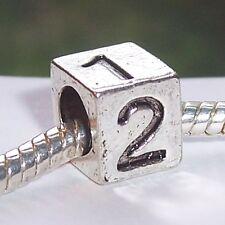 Number Block Child Preschool School Toy Bead for Silver European Charm Bracelet