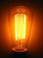 2 x Rustika Deko Lampe 60W VIELFACHWENDEL , leuchtet ähnlich wie Kohlefadenlampe