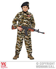 Childrens Soldier Fancy Dress Costume Military Army Outfit 140Cm