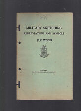 Military Sketching: Abbreviations and Symbols, US Marine Corps, 1943 softcover