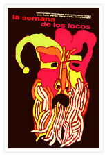 "Cuban movie Poster""WEEK of Crazies""Expressionism art.La semana de los Locos!"
