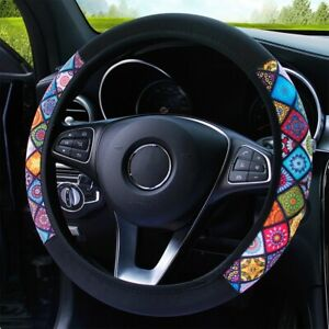 """38cm 15""""Car Steering Wheel Cover Automotive Interior Bling Bling Suede Anti-slip"""