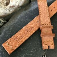 """rare 9/16"""" Hamilton 1940s-1950s USA Made Pigskin Vintage Watch Band nos"""