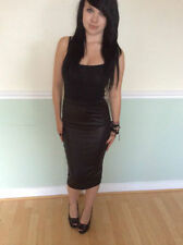 Unbranded Leather Straight, Pencil Knee Length Women's Skirts